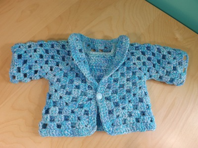 Crochet Baby Sweater Part 1 of 2