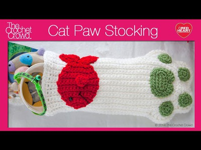 Crochet Christmas Cat Paws Stocking Tutorial