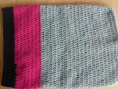 Crochet laptop sleeve. notebook bag - lefty tutorial