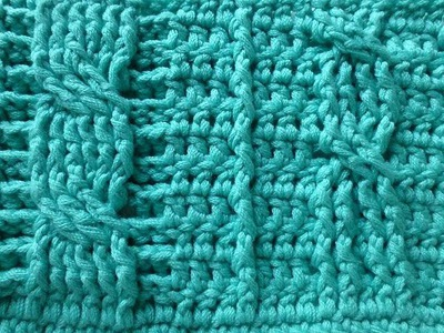 Crochet with eliZZZa * Crochet Cable Stitch with front post and back post double crochets