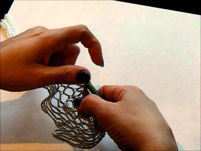 Crocheted Ruffle Scarf Tutorial