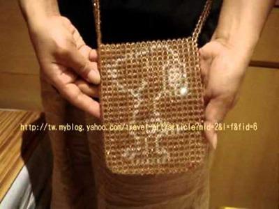 Crystal Beads=Swarovski 5mm Snoopy Bag 施華洛世奇 水晶串珠 側背袋