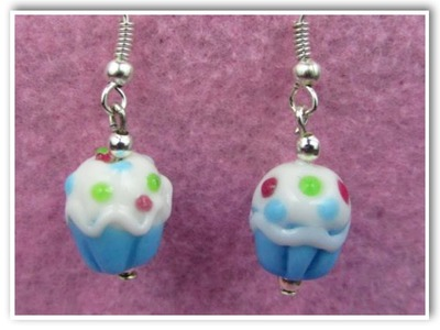 Cupcake Earrings DIY Jewelry