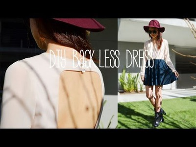 DIY Backless Dress (Ft. Lookunderhere)