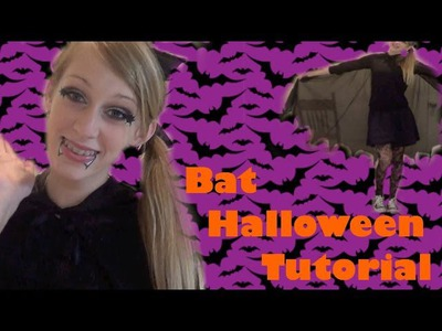 DIY Bat Costume, Makeup, and Hair! Halloween 2013
