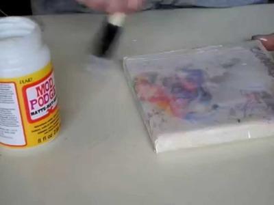 DIY Canvas Picture transfer using Gel Medium