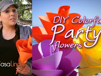 DIY: Colorful Paper Party Flowers - Casa Linda (English)