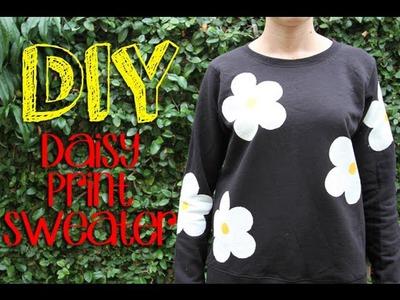 DIY Daisy Print Sweater