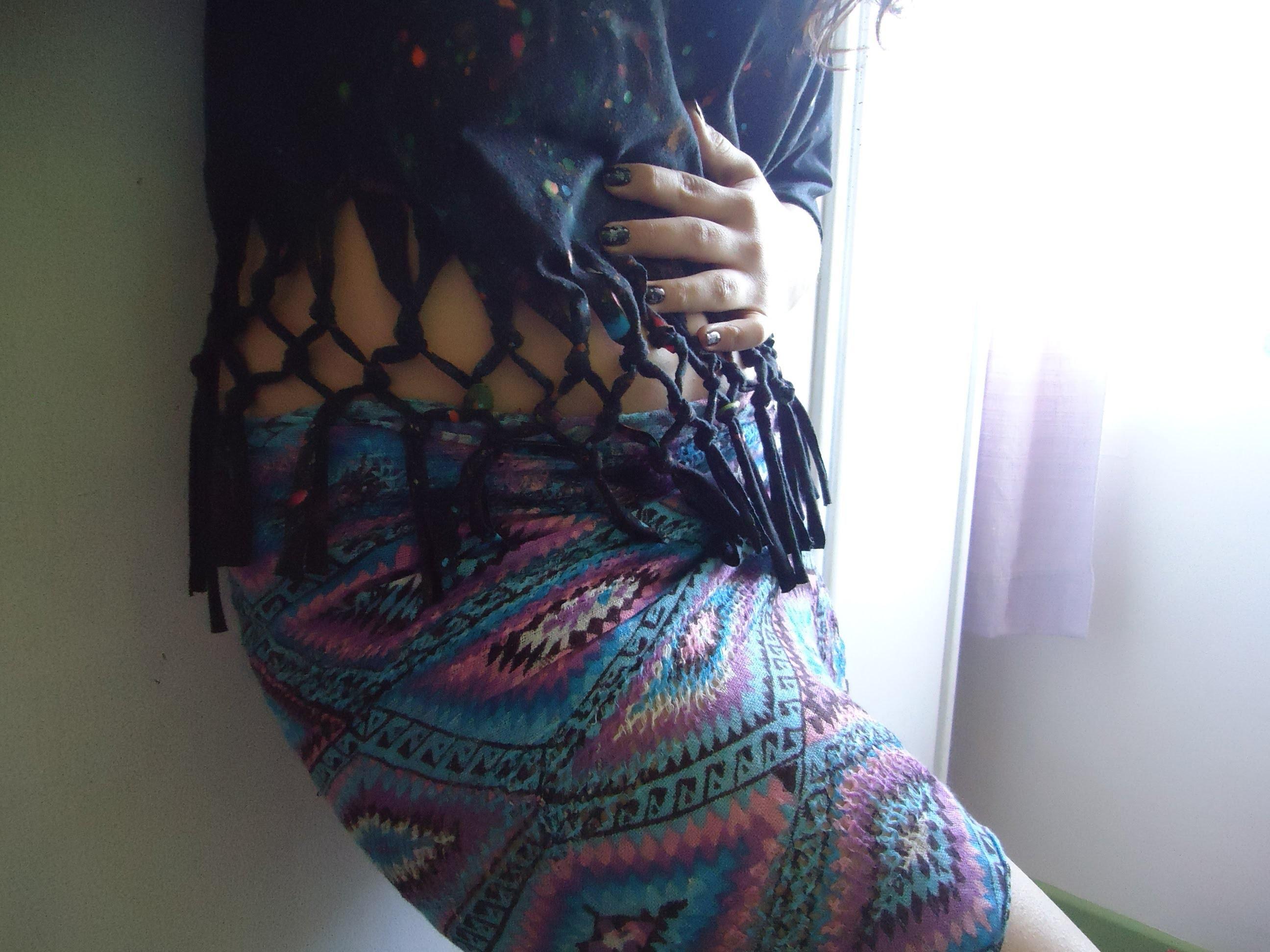 DIY - De uma blusa de franja à um crochê de macramê