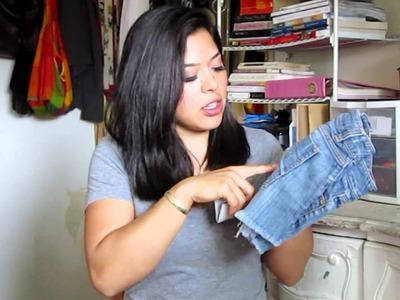 DIY: Distressed Jeans