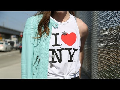 DIY Fashion | Edge Up A Tourist Tee | Designer DIY