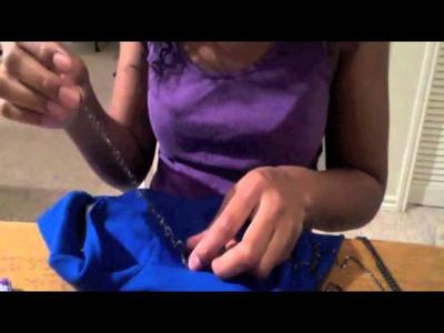 DIY Fashion: Shoulder Embellished Blazer
