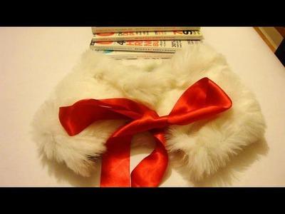 DIY faux fur collar scarf