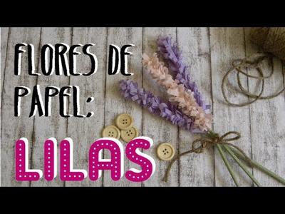 DIY Flores de papel: lilas - paper lilacs