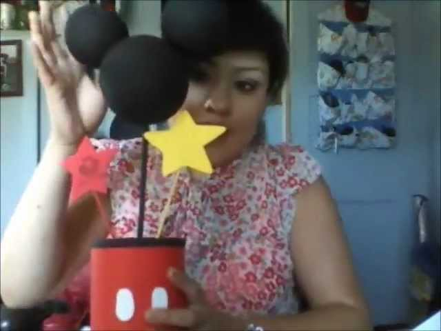 DIY formula can mickey mouse centerpiece idea for first birthday party