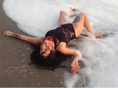 DIY HALLOWEEN COSTUME: SHARK ATTACK VICTIM | LALAWEEN