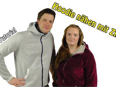 DIY | Hoodie nähen mit Zipper | Nähen für Anfänger | Tutorial