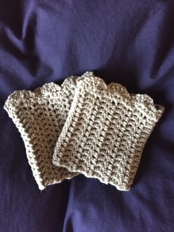 DIY how to crochet boot cuffs