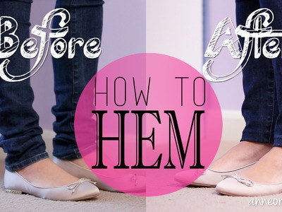 DIY How to Hem Jeans, Shorts, or Skirts {Sew & NO Sew}