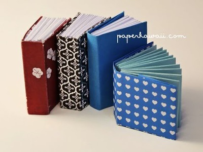 DIY How to make a mini book - origami book