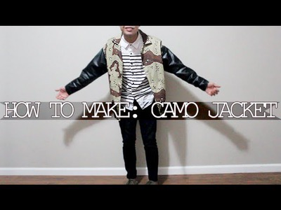 DIY: How to Make Camo Jacket + OOTD!