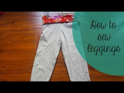 DIY Leggings with a Waistband