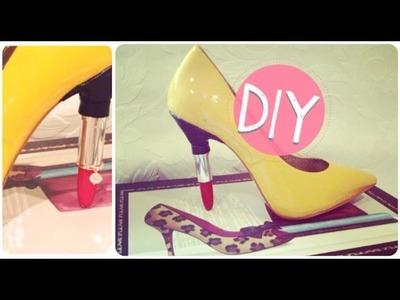 DIY Lipstick Heels Shoes Tutorial (English)