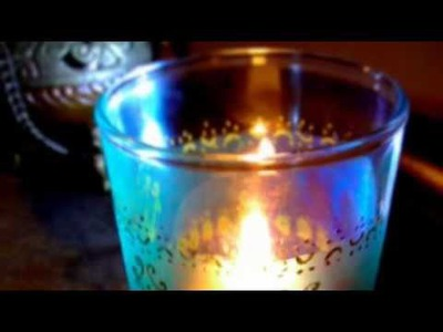 DIY Moroccan Tea Glass Candle Holder | Gift Idea Tutorial