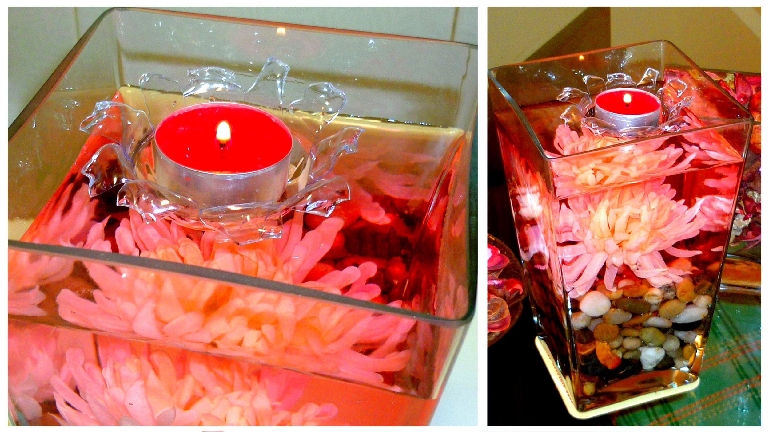 DIY ROOM DECOR ❤ FLOATING candle centerpiece!