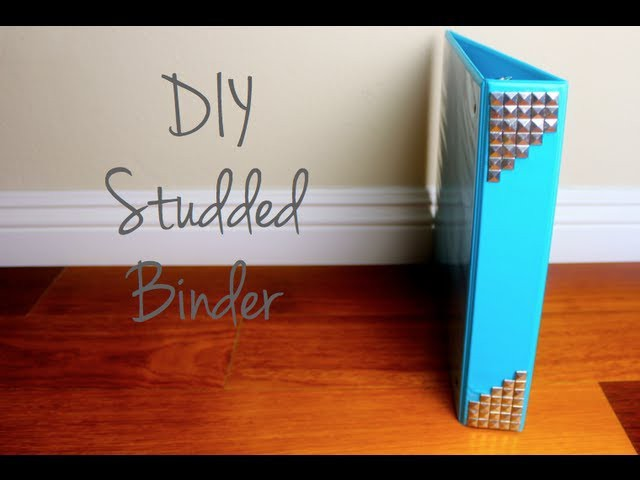 DIY Studded Binder