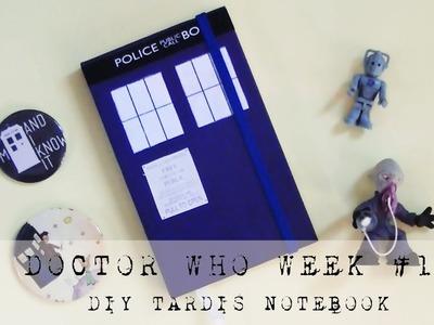 DIY TARDIS NOTEBOOK | Doctor Who Week #1