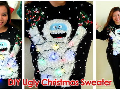DIY: Ugly Christmas Sweater 2014 (Abominable Snowmonster)