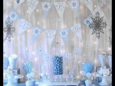 DIY Winter wonderland party decorating ideas