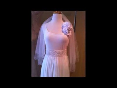 {EVA}How to make an easy Bridal Sash for your wedding Gown