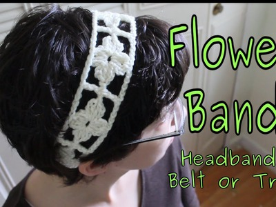 Flower Band (Crochet Tutorial)