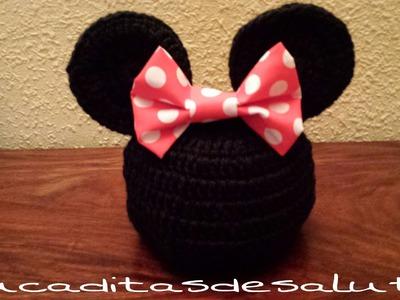 Gorro Minni Mouse a Crochet ¡¡ paso a paso !!