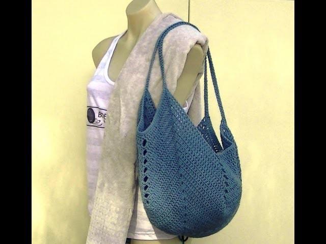 Granny Square Bottom Bag Crochet Tutorial