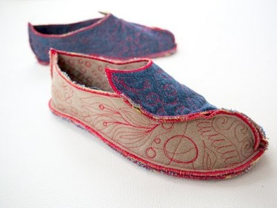 Happy Feet DIY Shoe * fabric version