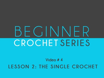 How To Crochet: Beginner Crochet Series Lesson 2 The Single Crochet