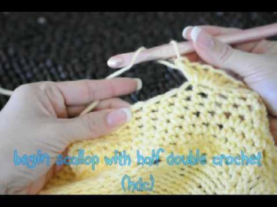 How to Crochet Picot & Scallop Border - Oodles of Poodles #15