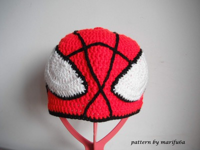 How to crochet spider man hat all sizes by marifu6a free pattern tutorial