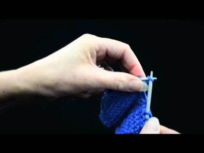How to Knit Buttonholes Part 1 Large Buttonhole   k1p1 TV