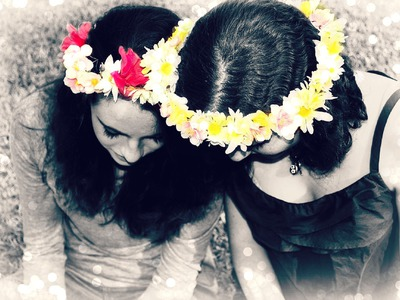 How to make a FLOWER CROWN . DIY flower crown