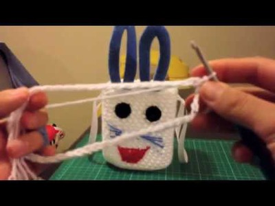 How to make easter egg basket. full. crochet