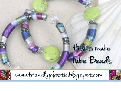 How to make tube beads with Friendly Plastic Strips - Friendly Plastic TV