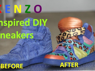 K E N Z O Inspired DIY Sneakers | INSTAGRAM @urbanicon