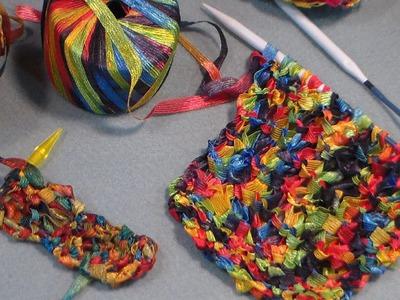 Knit drop stitch stripe pattern