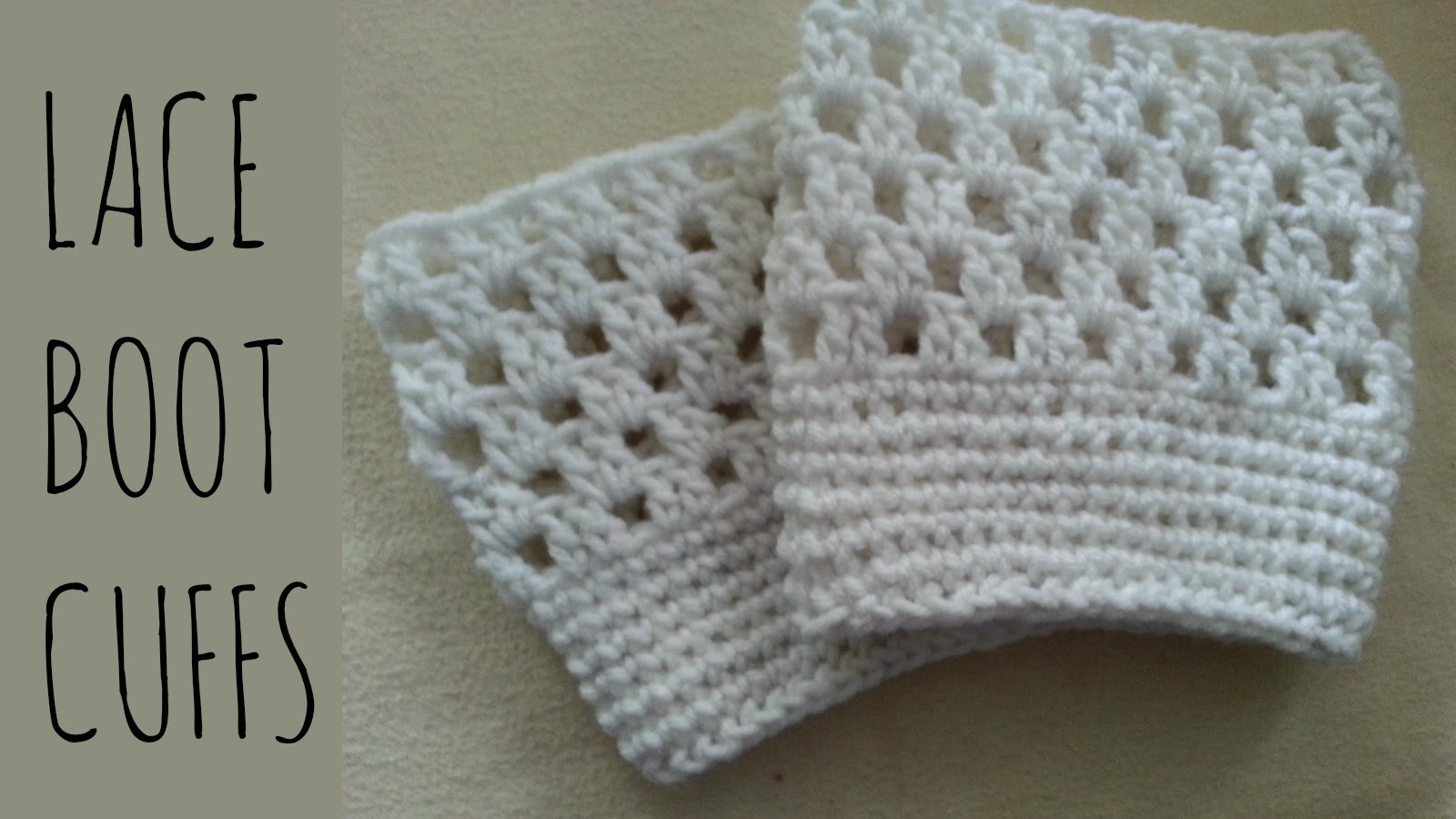 Lace Boot Cuffs | Crochet Pattern | Tutorial