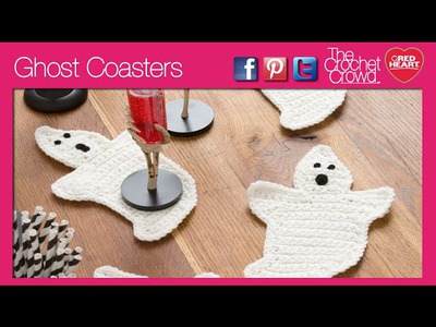 Left Hand: Crochet Ghost Coasters Tutorial