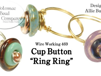 """Make Cup Button """" Ring Rings """""""